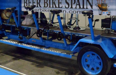 Beer Bike White and Blue