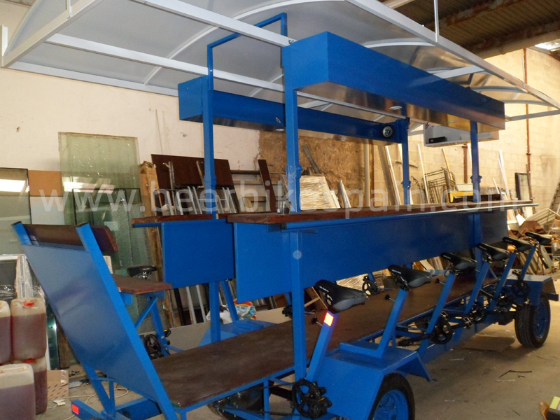Beer Bike factory Blue and white